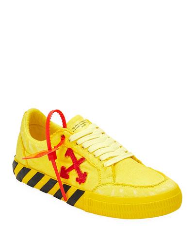 Men's Low-Top Vulcanized Canvas Sneakers