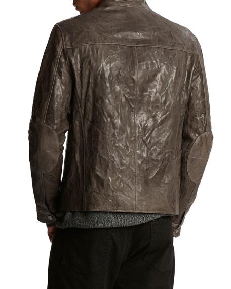 John Varvatos Men's Toggle-Closure Sheepskin Jacket
