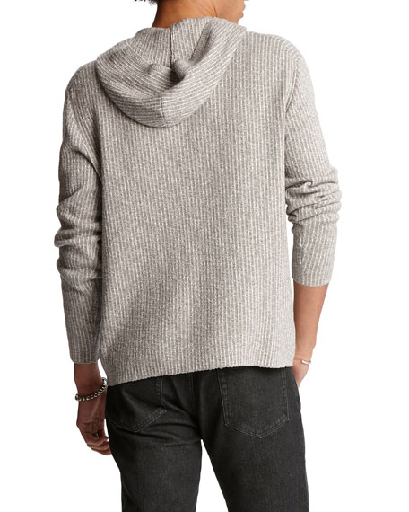 John Varvatos Men's Striped Easy-Fit Pullover Hoodie