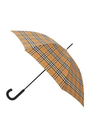 Burberry Men's Vintage Check Folding Umbrella