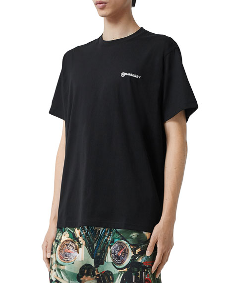 Burberry Men's Justin Logo Graphic T-Shirt