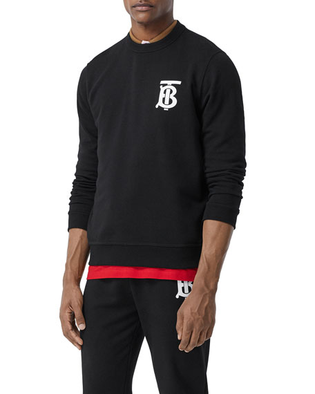 Image 1 of 3: Burberry Men's TB Logo Pullover Sweatshirt