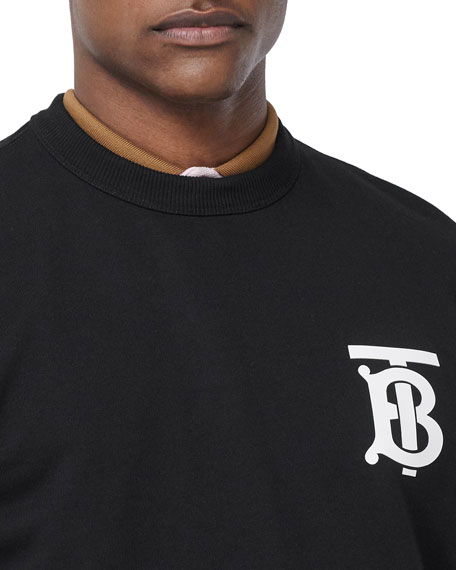 Image 3 of 3: Burberry Men's TB Logo Pullover Sweatshirt