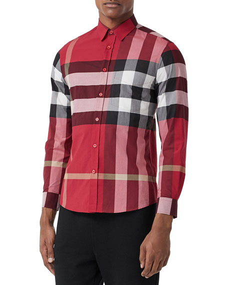 Burberry Men's Somerton Check Sport Shirt