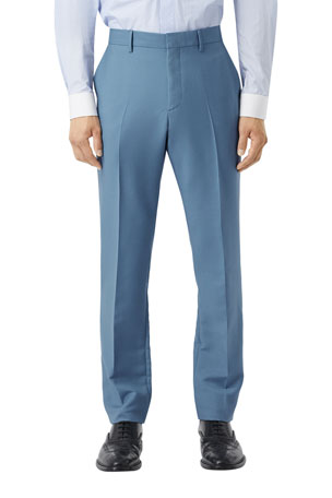 Burberry Men's High-Rise Mohair-Wool Suit Pants