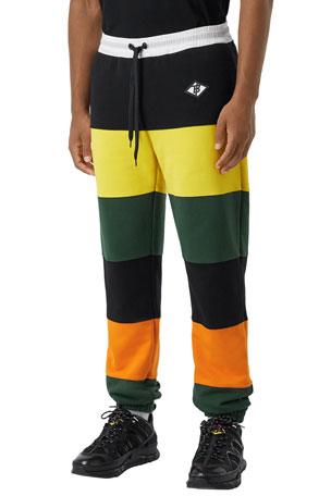 Burberry Men's Lyford Colorblock Sweatpants