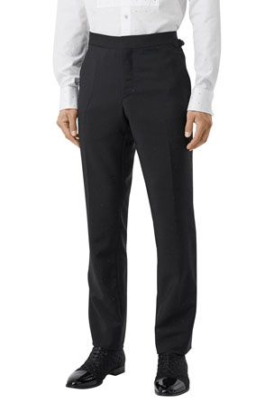 Burberry Men's Crystal-Embellished Straight-Leg Pants