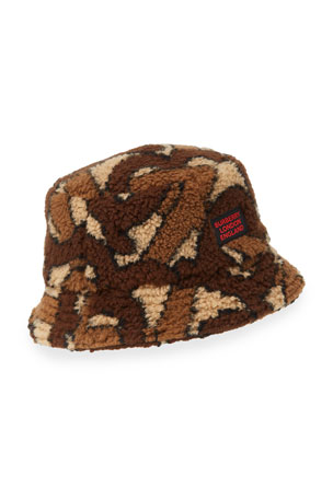 Burberry Men's Camo Fleece Bucket Hat