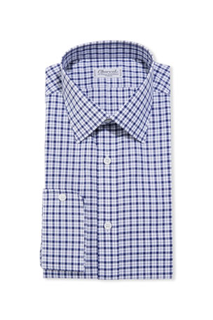 Charvet Men's Check Dress Shirt