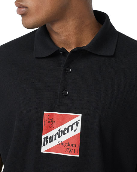 Burberry Men's Timmons Graphic Polo Shirt
