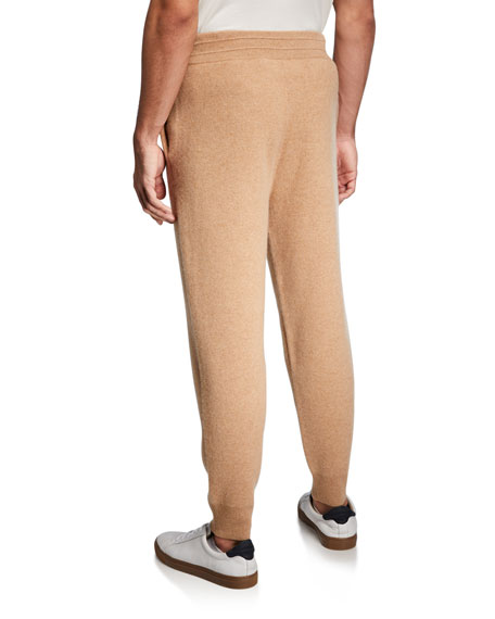 Image 2 of 3: Burberry Men's Huntley Cashmere Jogger Pants