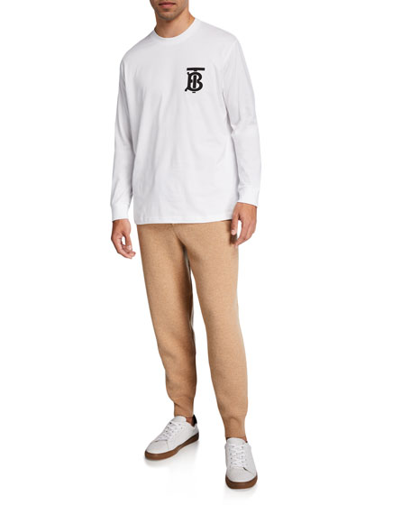 Image 3 of 3: Burberry Men's Huntley Cashmere Jogger Pants