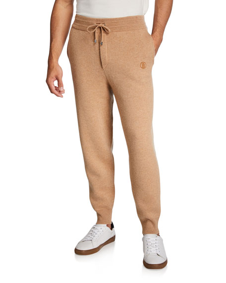 Image 1 of 3: Burberry Men's Huntley Cashmere Jogger Pants