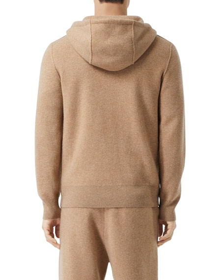 Image 2 of 5: Burberry Men's Lindley Cashmere Zip-Front Hoodie