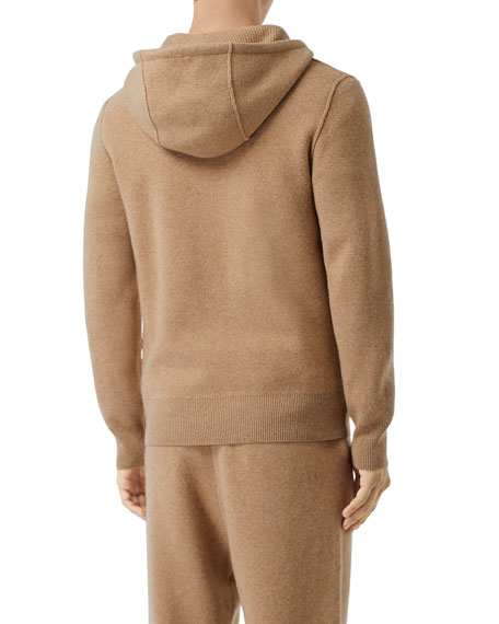 Image 4 of 5: Burberry Men's Lindley Cashmere Zip-Front Hoodie