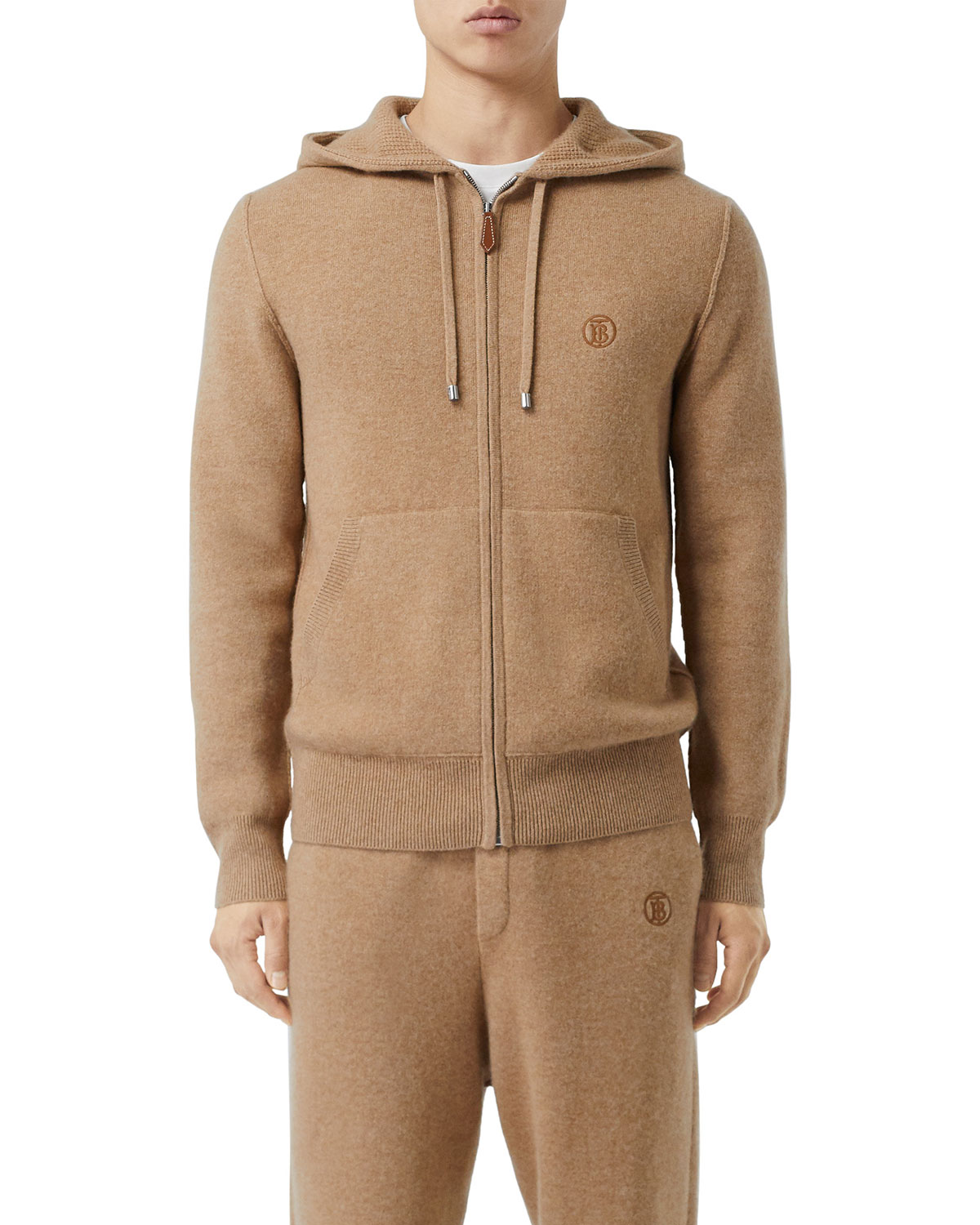 Burberry Men's Lindley Cashmere Zip-Front Hoodie
