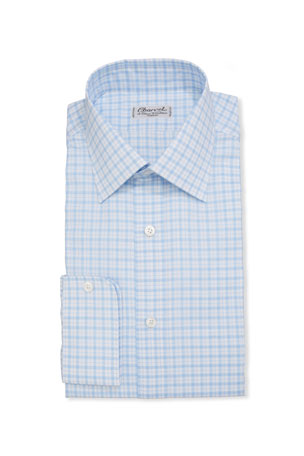 Charvet Men's Check French-Cuff Dress Shirt