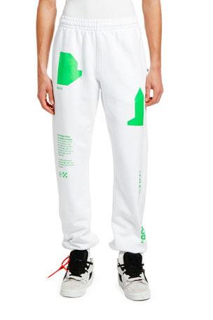 Off-White Men's Arch Shapes Slim Sweatpants
