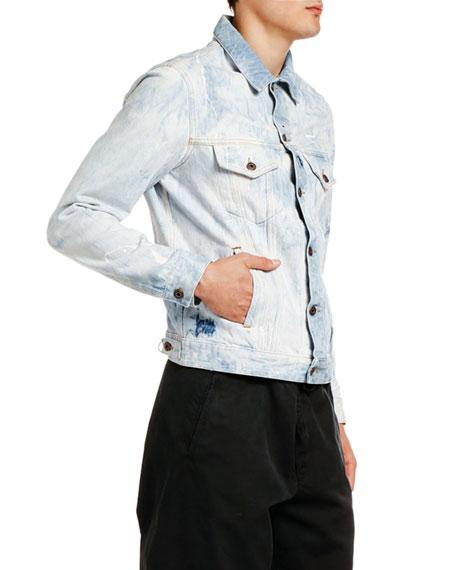Off-White Men's Arrow Slim Bleached Jean Jacket