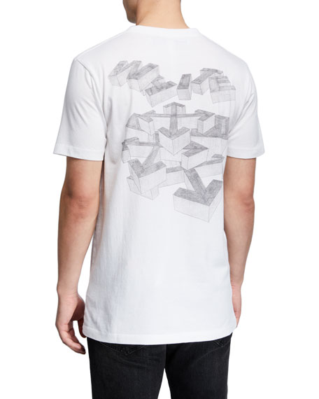 Off-White Men's 3D Pencil Slim T-Shirt