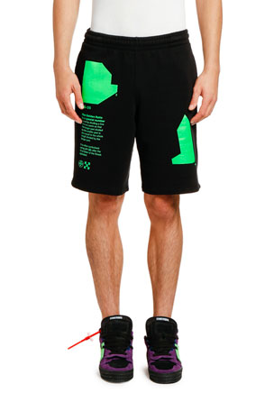 Off-White Men's Arch Shapes Unfinished Sweat Shorts