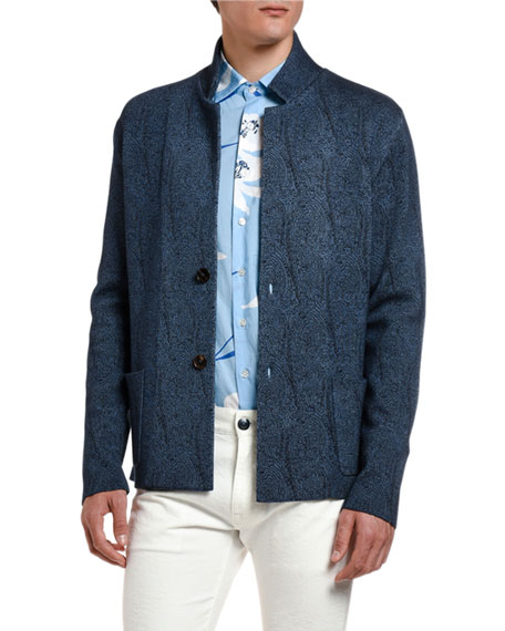 Etro Jackets Men's Textured-Knit Sweater Jacket