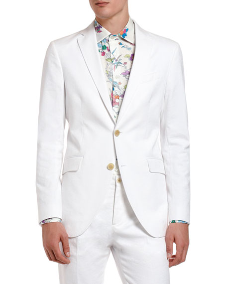 Etro Jackets Men's Tonal Jacquard Cotton Sport Jacket