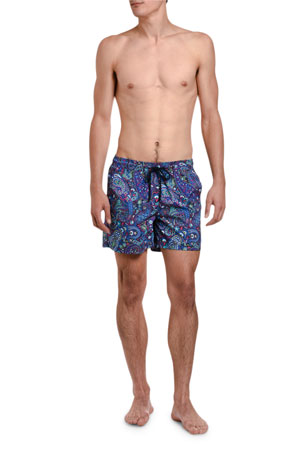 Etro Men's Paisley Print Swim Trunks