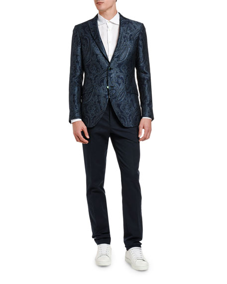 Etro Jackets Men's Shiny Floral Paisley Sport Jacket