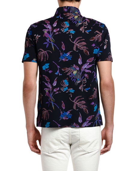 Etro Men's Tropical Print Short-Sleeve Shirt