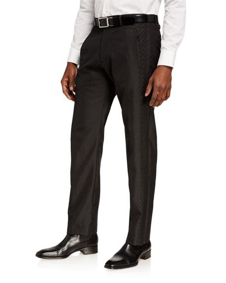 Etro Men's Chevron Side-Stripe Tuxedo Pants