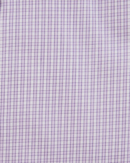 Image 2 of 2: Eton Men's Contemporary Plaid Dress Shirt With Piping