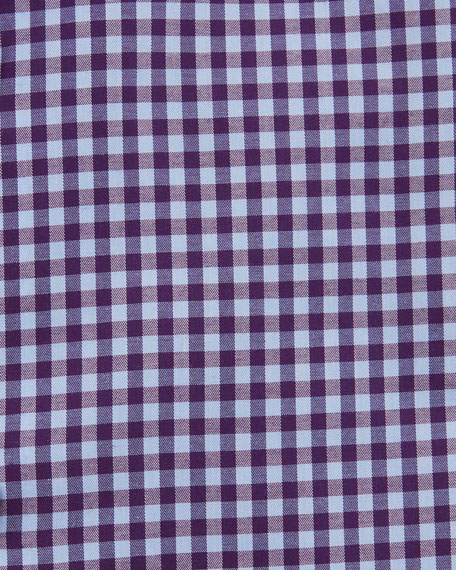 Image 2 of 2: Eton Men's Contemporary Check Dress Shirt With Colored Button