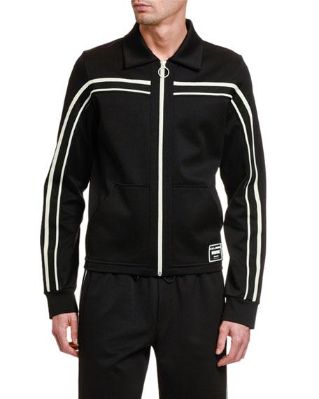 Dolce & Gabbana Men's Retro Contrast-Stripe Track Jacket