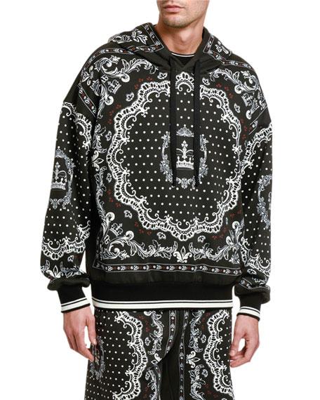Dolce & Gabbana Men's Bandana-Print Pullover Hoodie