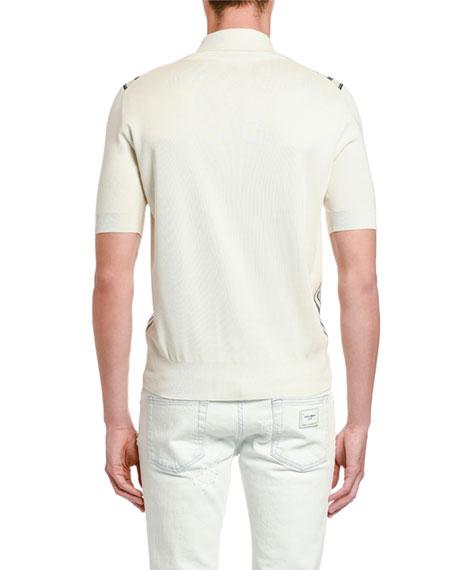 Dolce & Gabbana Men's Striped Knit Polo Shirt
