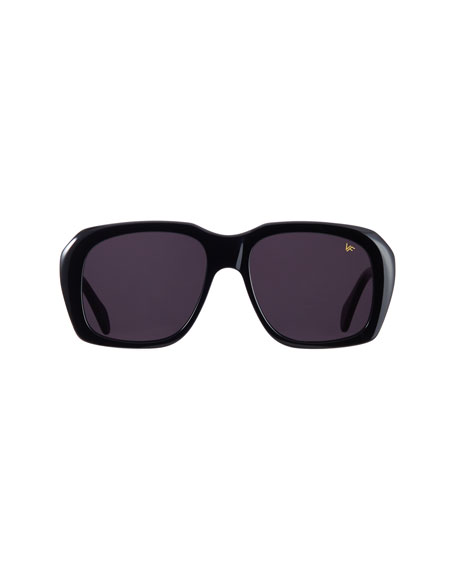 Vintage Frames Company Men's Chunky Solid Square Sunglasses