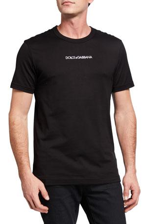 Dolce & Gabbana Men's Core Short-Sleeve Crewneck T-Shirt