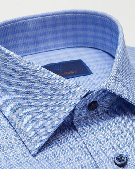 David Donahue Men's Regular-Fit Tonal Check Dress Shirt