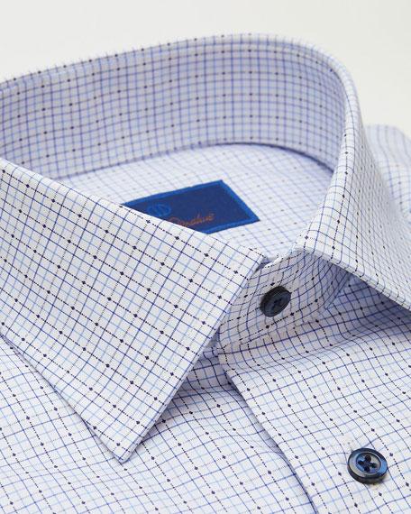 David Donahue Men's Slim-Fit Twill Check Dress Shirt