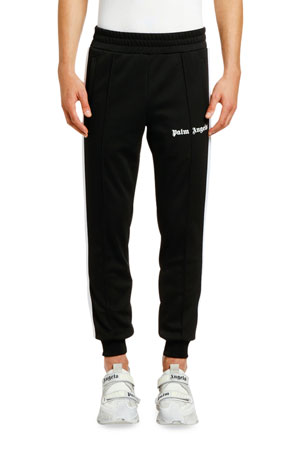 Palm Angels Men's Ankle-Rib Track Pants