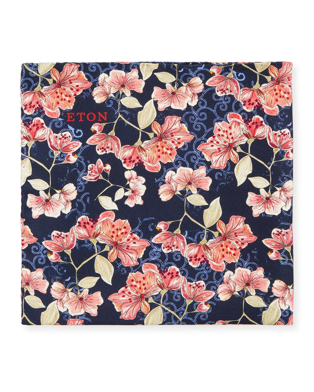 Eton Mens Floral Pocket Square