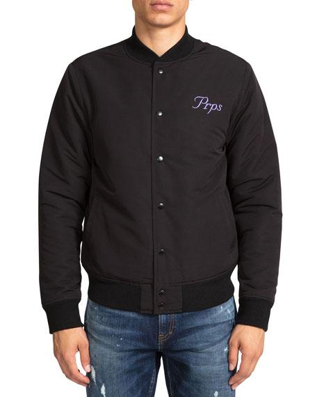 PRPS Men's Reversible Embroidered Bomber Jacket
