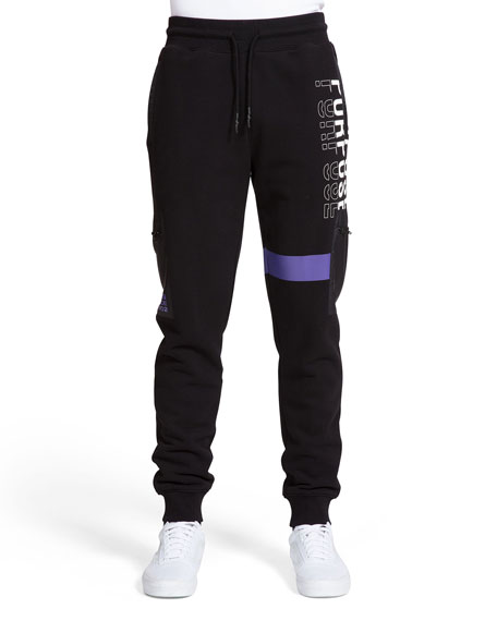 PRPS Men's Purpose Typographic Jogger Pants