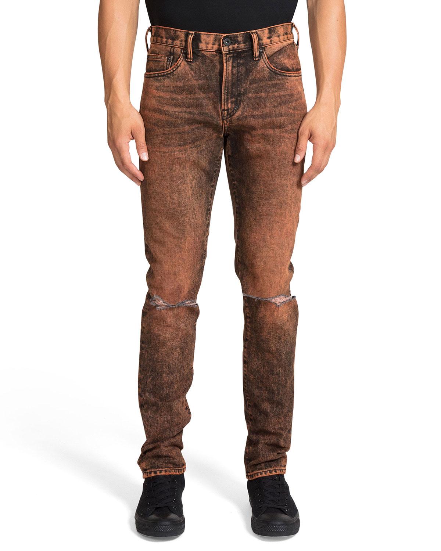 PRPS Men's Le Sabre Slim Garment-Dyed Jeans
