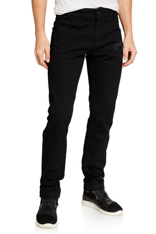 Palm Angels Men's PXP 5-Pocket Straight-Leg Jeans
