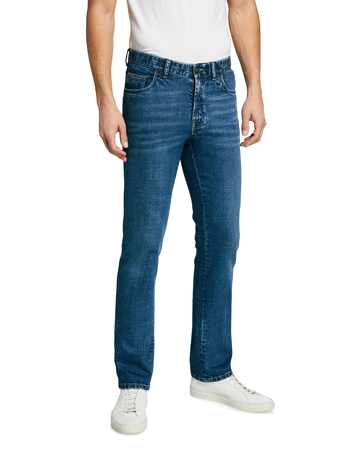 Brioni Men's Straight-Leg Stretch-Denim Jeans
