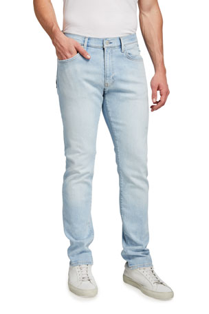Ovadia Men's Relaxed Destroyed Taper-Fit Jean