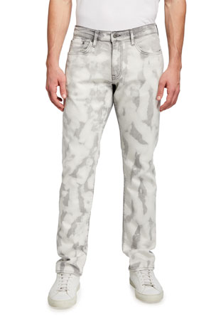 Ovadia Men's 002 Slim-Fit Bleached Jeans