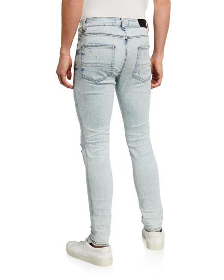 Amiri Men's Slash Distressed Skinny Jeans
